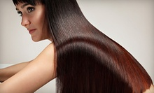 "Keratin Treatment with Optional Haircut at ""D"" Spot Salon (Up to 60% Off)"