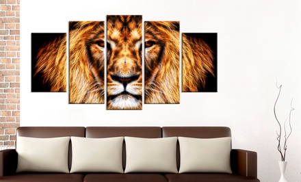 Single- or Multi-Panel Animal Artwork on Gallery Wrapped Canvas for $49.99 or $89.99