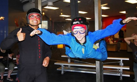 Indoor Skydiving, Surfing, and Rock Climbing for One or Two at Flowrider and iFly (Up to 44% Off)