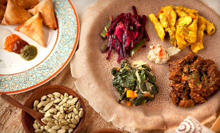 Traditional Ethiopian Dinner for Two or Four at Africana Cafe (Up to 52% Off)
