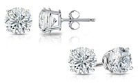 GROUPON: 0.50, 1.00, or 1.25 CTTW Diamond Solitaire Stud Earrings ... 0.50, 1.00, or 1.25 CTTW Diamond Solitaire Stud Earrings