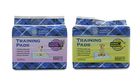 100-Count American Kennel Club Scented Puppy Training Pads