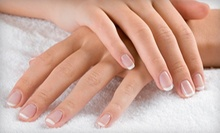 Shellac Gel Manicure with Optional Spa Pedicure, or Pink-and-White SNS Nails at Hanna Nails (Up to 53% Off) 