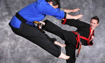 10, 20, or 30 Kickboxing or Karate Classes with Gloves at Revolution Martial Arts Institute (89% Off)