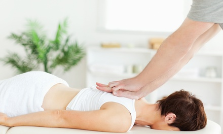 Consultation, Exam, X-rays, and Massage with One or Four Adjustments at 100% Chiropractic (Up to 70% Off)