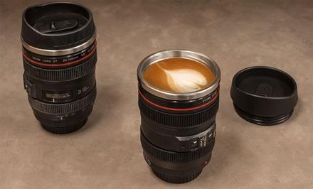 Camera-Lens Coffee Mug with Lid