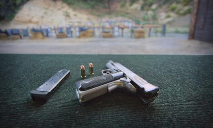 Pistol-Shooting Experience with Intro Lesson and Rentals for Two or Four at Oak Tree Gun Club (44% Off)
