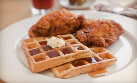 Waffle Dinner for Two or Four at The Pink Tea Cup (Up to Half Off)