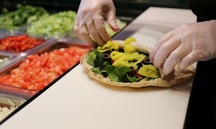 Fresh Stuffed Pitas for Dine-In, Carryout, or Delivery from Pita Pit (Up to 40% Off)