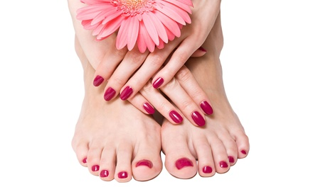Gel Manicure or Mani-Pedi from Christine at Muse Beauty Salon (Up to 46% Off)