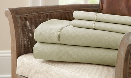 Kensington Hotel Collection 4-Piece Embossed Sheet Set