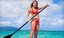 Standup-Paddleboarding Lessons for One, Two, or Four, or Four-Hour Rental at Venice Beach Surf School (Up to 81% Off)