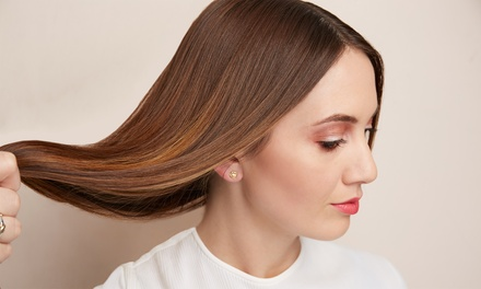 Haircut, Color, and Brazilian Blowout with Elie at Salon Static (Up to 58% Off). Four Options Available.