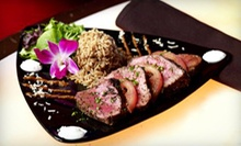 Upscale American Cuisine Appetizers and Entrees for Two or Four at Blue Martini (52% Off)
