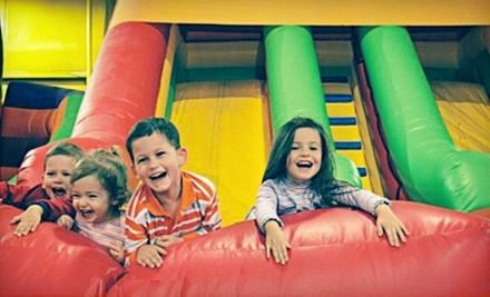 One or Three Kids Play Times with Hot Dog or Pizza Meals at Kangaroo Jac's (Up to 54% Off)