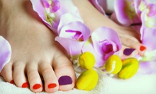 Shellac Pedicure at Polished Boutique Nail Spa  Inside Salon Ventures (Up to 52% Off). Three Options Available.
