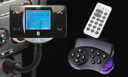 Kit mãos-livres com Bluetooth, ecrã LCD de 1,8', leitor de MP3 e acessórios por 29,90 €