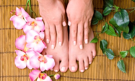 One or Two Shellac Manicures and Pedicures at Diamond Nails Salon (Up to 54% Off)