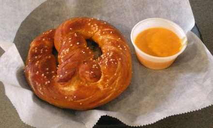 $5.99 for $10 Worth of Pretzels, Sandwiches, and Salads at Pumpernickel's Pretzel Bakery