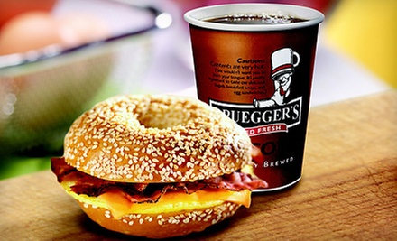 Big Bagel Bundle with 13 Bagels and Two Cream-Cheese Tubs or $5 for a $10 Worth of Bagels and Café Food at Bruegger's