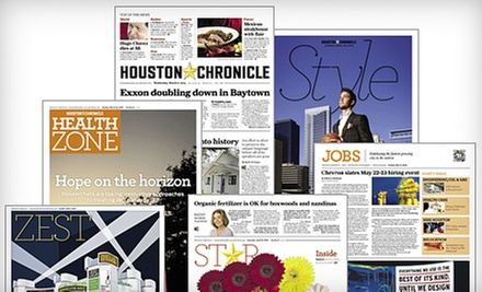 "Six-Month or One-Year Wednesday and Sunday Delivery to the ""Houston Chronicle"" (Up to 69% Off)"