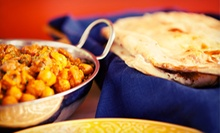 Indian Cuisine and Drinks at Taste of India (Up to 56% Off). Two Options Available.