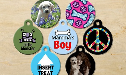 One or Two Custom Pet-Identification Tags with Tag Silencers and Free Shipping from Dog Tag Art (Up to 53% Off)