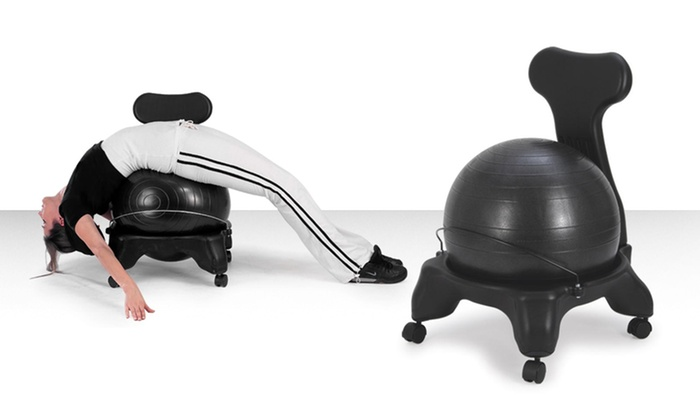 $64 99 for Fitness Chair with Built In Exercise Ball