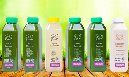 Three-Day Cold-Pressed Juice Cleanse for One or Two from Juice in the RAW (Up to 54% Off)