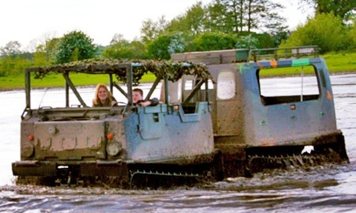 Tank Mania - Swadlincote: Trio of Tracks Experience From £34 With Full Combat Kit and Camouflage with Tank Mania (Up to 68% Off)
