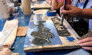 One Bring-your-own Piece Chalk Paint Workshop At Artworks Spokane (50% Off). Three Locations Available.