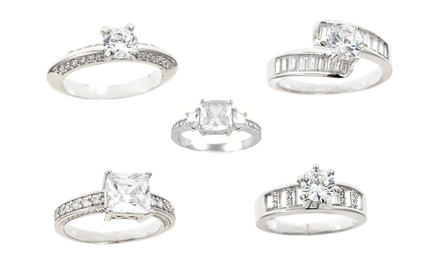 Cubic Zirconia Bridal Rings