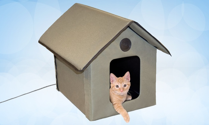 Outdoor Heated Cat House. Free Returns.