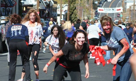 Redrun Zombie Race Entry for One, Two or Four on Saturday, October 11 from Liquid Blue Events (Up to 54% Off)
