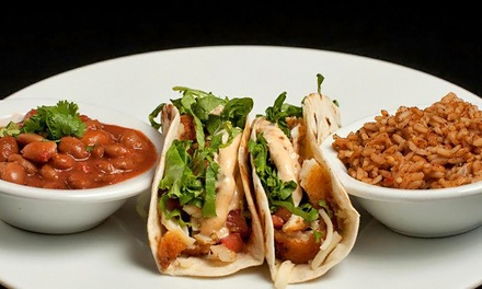 Mexican and Canadian Food and Drinks at Southern Cross Grill on Queen (Up to 45% Off). Three Options Available.