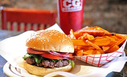 $17 for Five $7 Vouchers for Burgers and All-American Classics at CG Burgers ($35 Value)