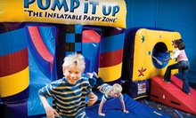 5 or 10 Pop-In Bounce-House Play Sessions at Pump It Up in Crystal Lake (Half Off)