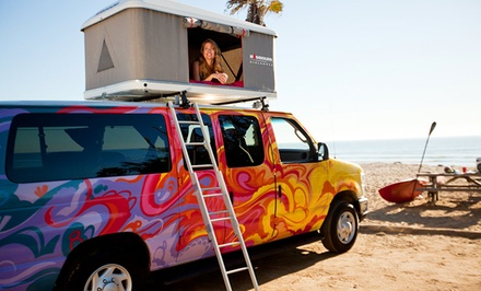 groupon daily deal - 5- or 7-Day Camper Van Rental from Escape Campervans. Available for Pick-Up in San Francisco, Los Angeles, or Las Vegas.