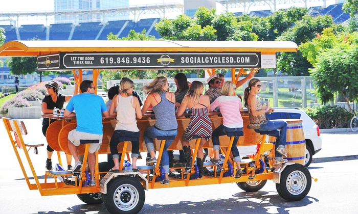Social Cycle Pedal Pub Tours Social Cycle Groupon