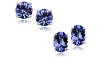 GROUPON: Genuine Tanzanite Stud Earrings in Sterling Silver Genuine Tanzanite Stud Earrings in Sterling Silver