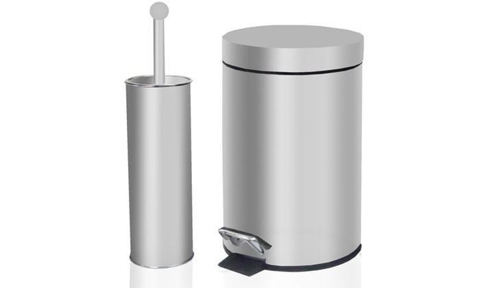 tectron bathroom trash can and toilet brush set free returns