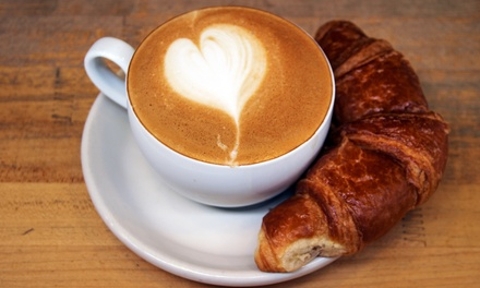 $12 for Two Groupons, Each Good for $10 Worth of Coffee and Food at Never Too Latte ($20 Value)
