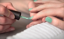 One or Two Shellac Mani-Pedis at Armani Salon and Spa (Up to 56% Off)