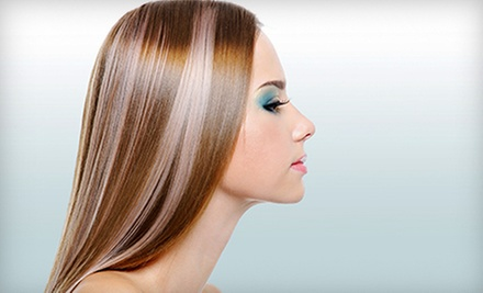 Haircut and Blow-Dry with Optional Partial or Full Highlights at Etre Hair Spa (Up to 66% Off)