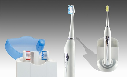 Advanced Ultrasonic Toothbrush with UV Sanitizer. Multiple Colors.