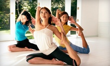 10 or 25 Yoga or Spinning Classes at Aim High Studio (Up to 67% Off)