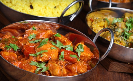 Indian Food for Dinner at Ghazal Indian Cuisine (Up to 52% Off). Two Options Available.