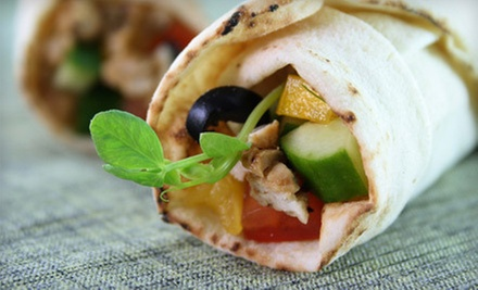 $5 for $10 Worth of Lebanese Cuisine or a 5-Sandwich Punch Card at The Grape Leaf Express (Up to 53% Off)