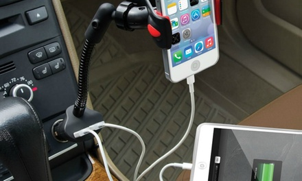 Dual Smartphone Charging Car Mount