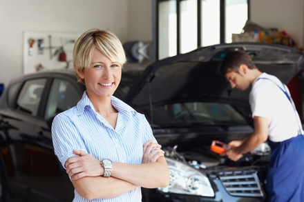 Oil Change Package or A/C Recharge Service at Midas (Up to 86% Off). Four Options Available.